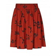 Minimum - Jupe rouge brique imprimé automne