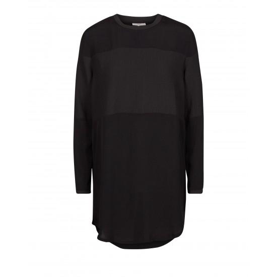 Minimum - Robe noire manches longues