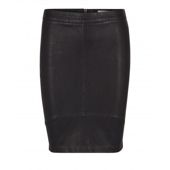 Minimum - Jupe noire en cuir