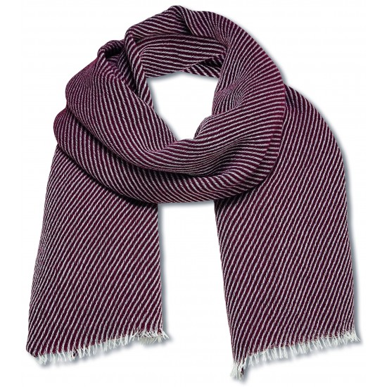 Selected - Echarpe homme bordeaux