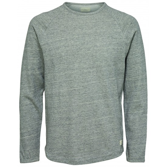Selected - T-shirt manches longues gris