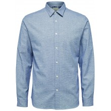 Selected homme - Chemise bleue chiné